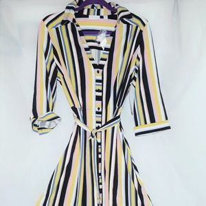 'New York & Co. Striped Shirtdress